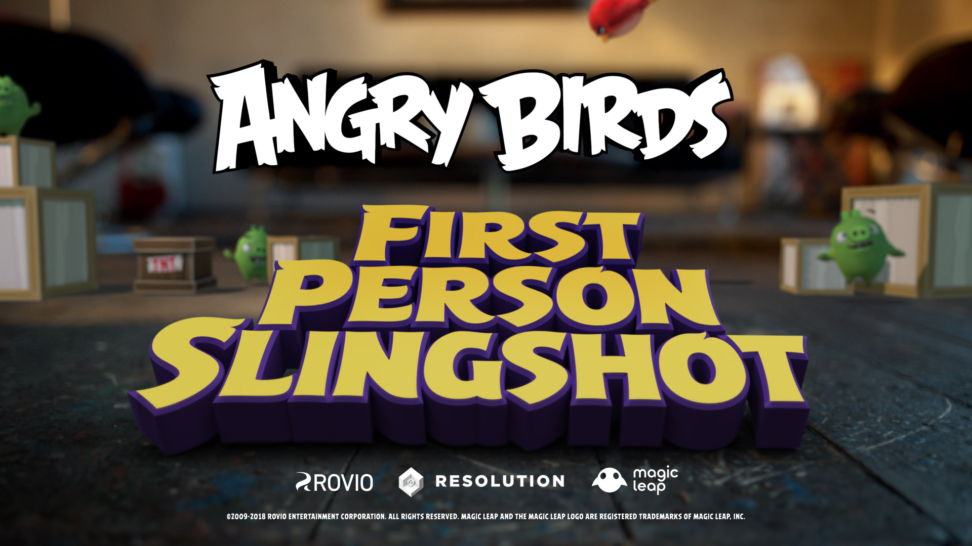Reality gets mixed in Angry Birds FPS: First Person Slingshot