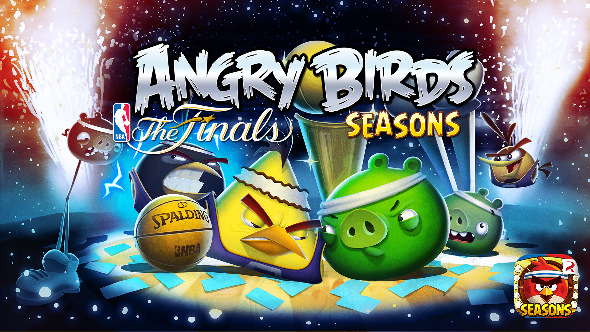 Out Now - The NBA Finals in Angry Birds Seasons! | Angry Birds