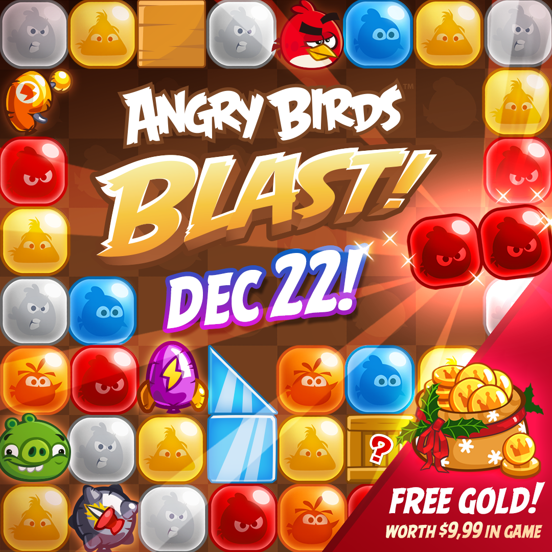 Angry Birds Blast! Available Dec. 22