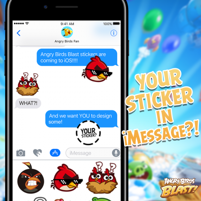 Your sticker in iMessage.